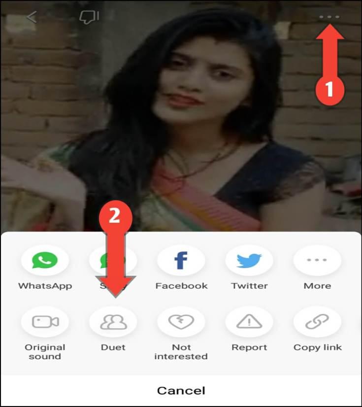 Select Duet Video Option In Vigo App