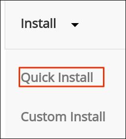 Select Install Method