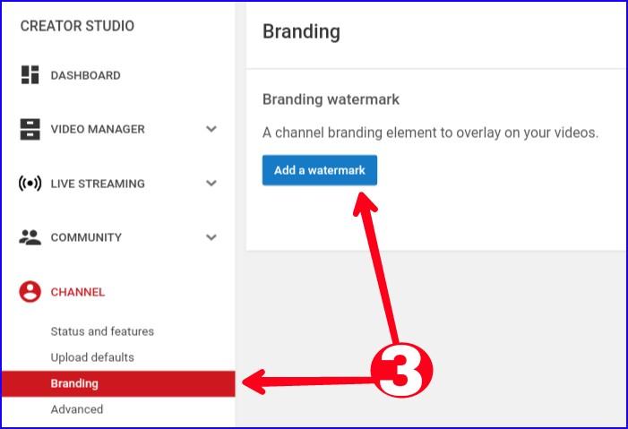 Upload Youtube Channel Watermark