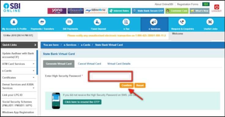 enter register mobile otp