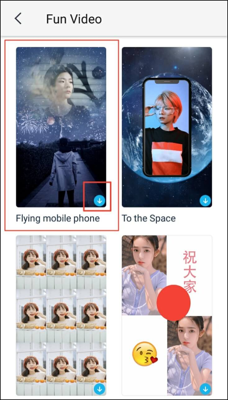 Create a Flying Phone Video 3