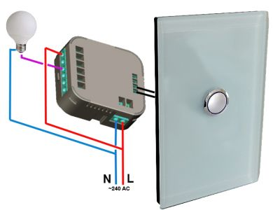DHS Z-Wave Single In-Wall Switch