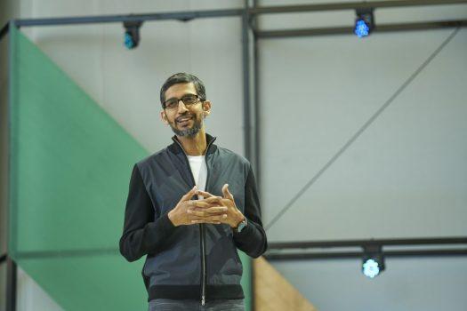 Pichai, CEO di Google, al Google I/O