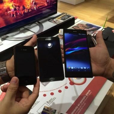 Comparación del Sony Xperia Ultra Z