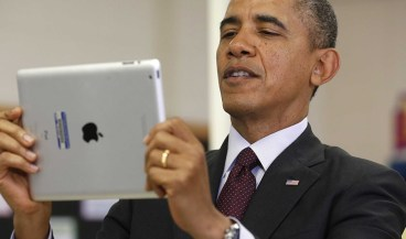 obama and ipad