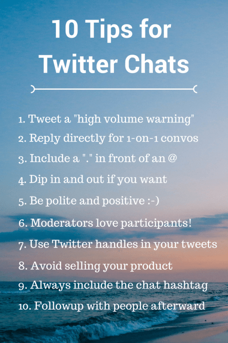 tips tweet chats