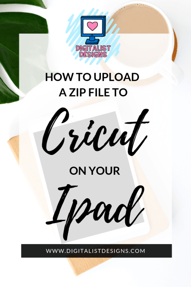 Here's a beginner step by step tutorial on how to upload a zip file to Cricut on your iPad.  This tutorial also works on iPhones. This tutorial goes through all the steps of downloading a zip file, unzipping the file, and uploading the SVG cut file to the Cricut Design Space App. This tutorial is useful for crafters and designers with a wireless Cricut Cutting Machine.