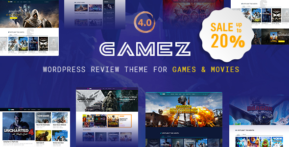 Best WordPress Review Theme For Games, Movies And Music – Gamez