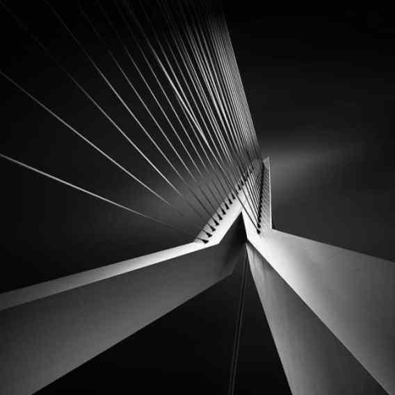 2. Erasmus Bridge, Rotterdam, Netherlands