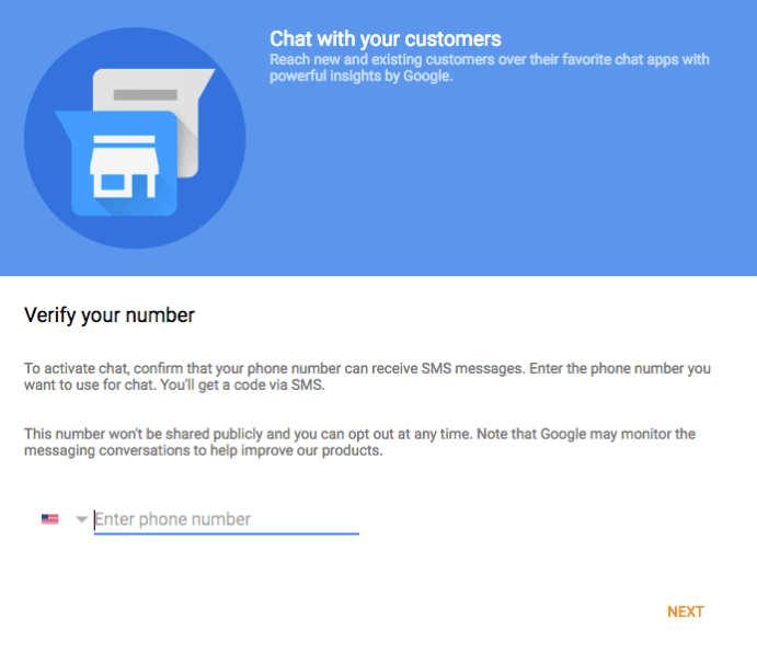 Setup for Google Live Chat and Messaging Screen Shot