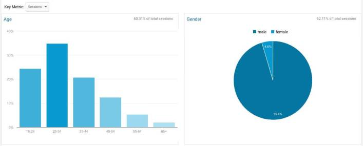 demographic reporting in google analytics for small business owners