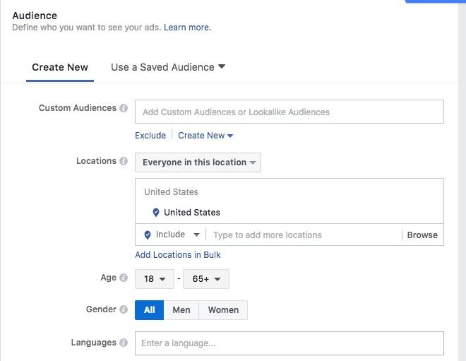 Facebook geofencing and geo targeting for busiensses setup 1