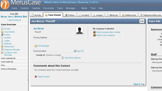 30 MerusCase legal and law firm practice and case management software review