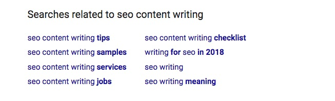 searches related to seo content writing