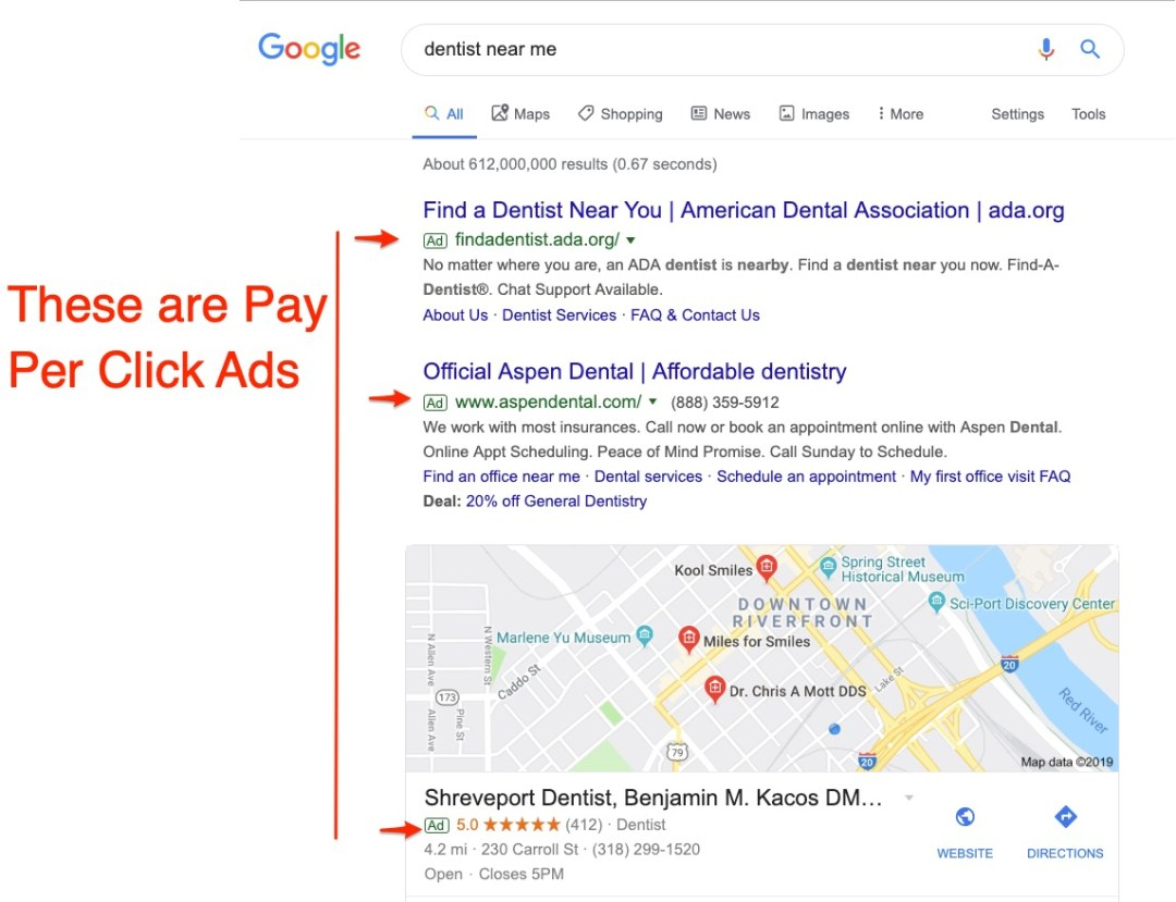 dental marketing and pay per click for dentists