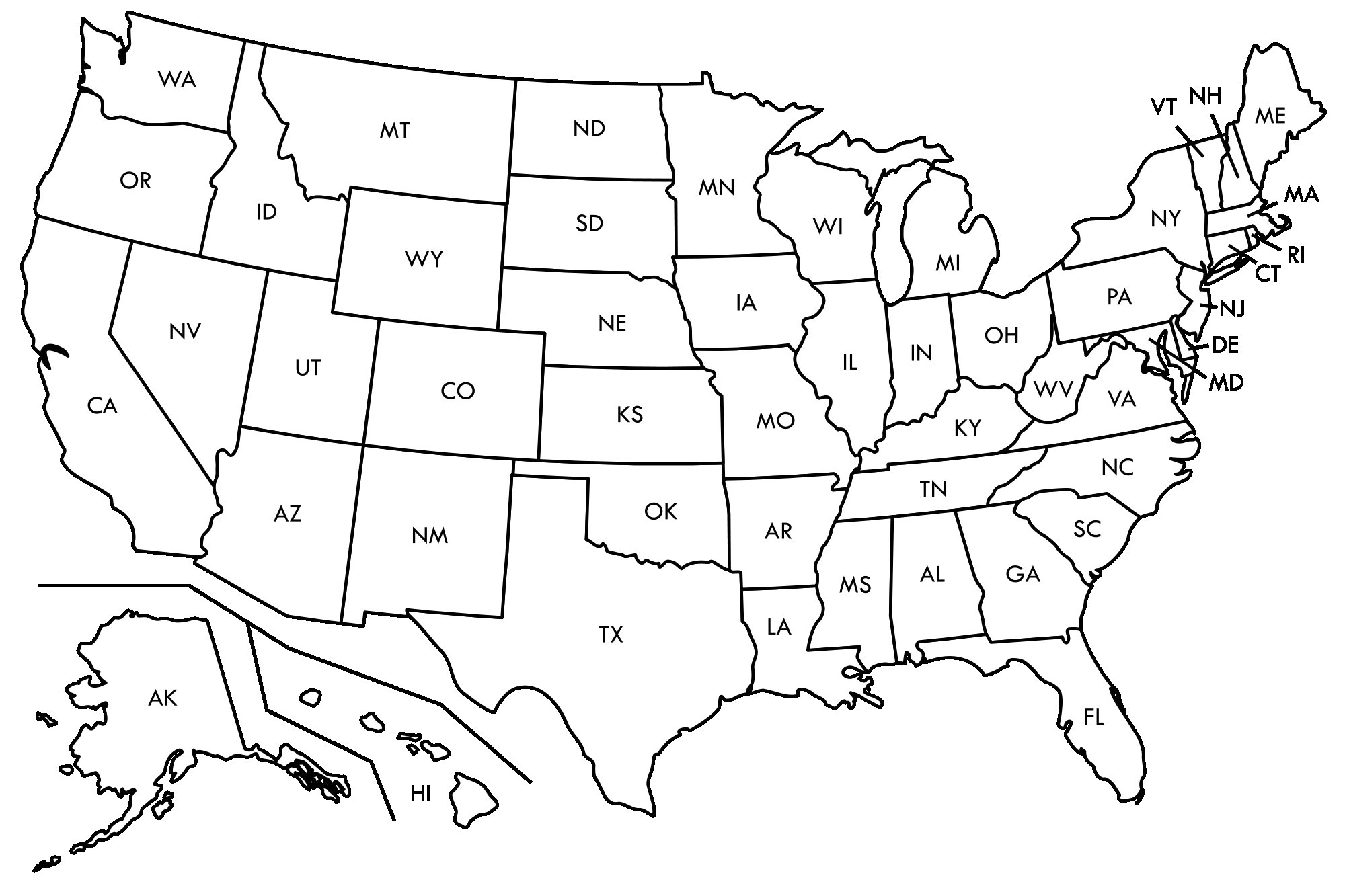 Map Us States And Capitals Worksheets Printable