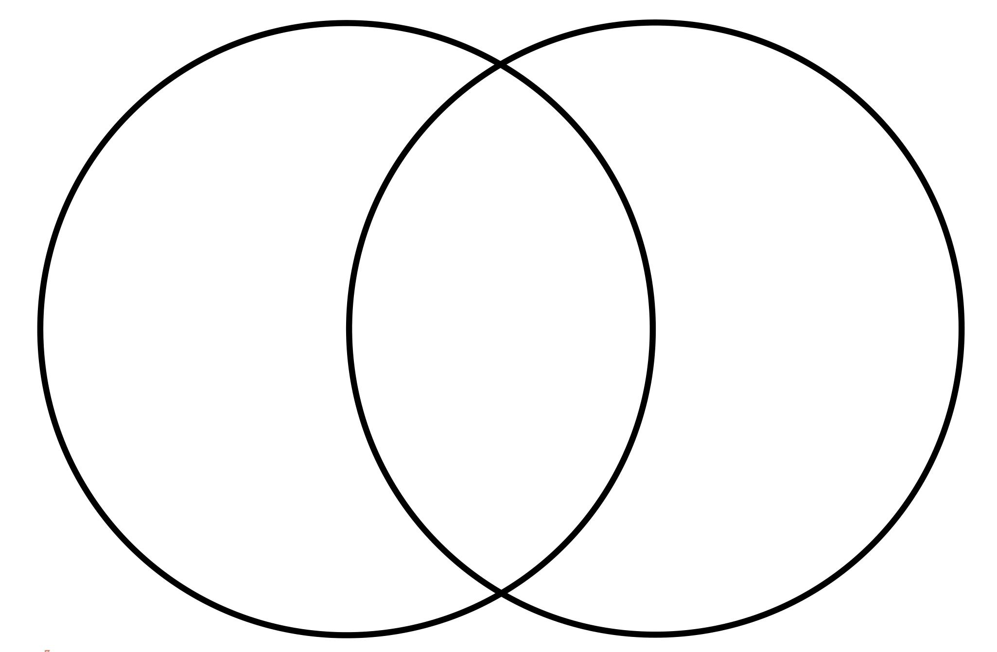 Printable Blank Venn Diagram Template Worksheet