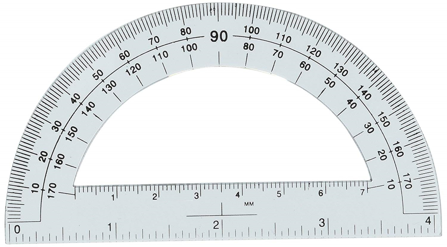 Free Printable Protractor 180 360 With Ruler