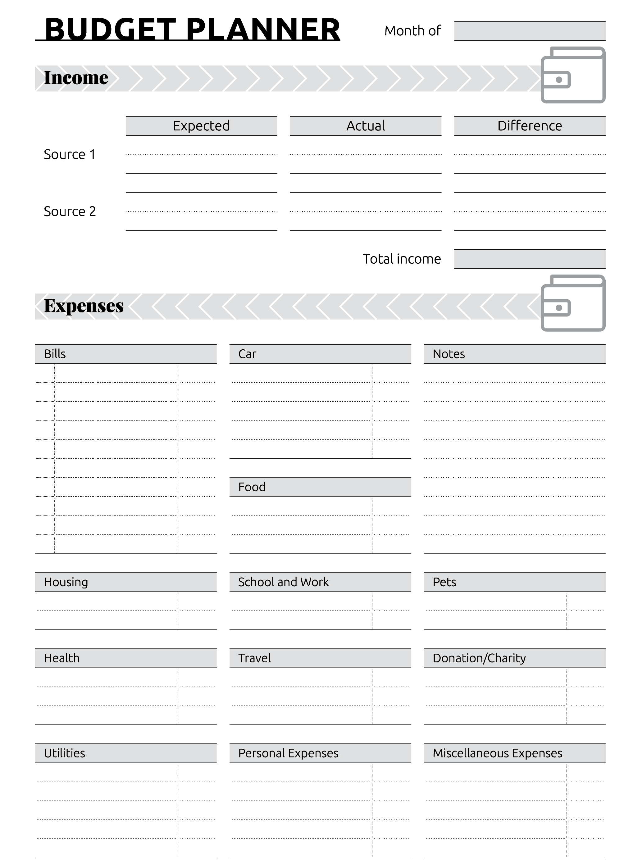 Free Monthly Budget Template Excel