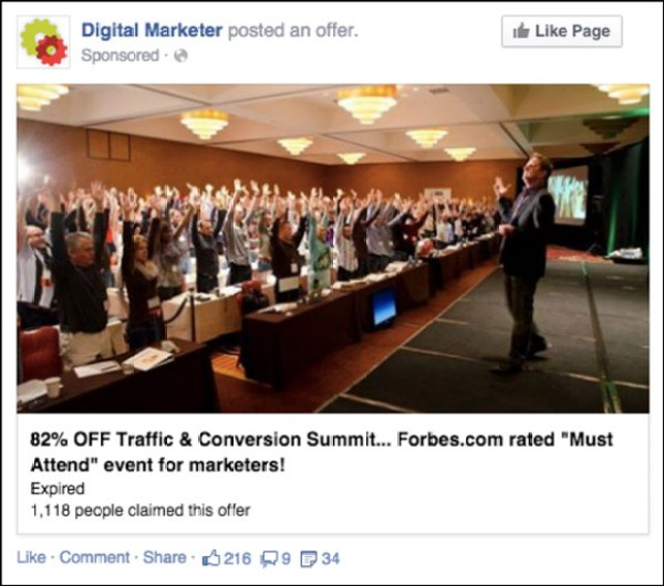 Facebook Offer Ad to High-Ticket Event