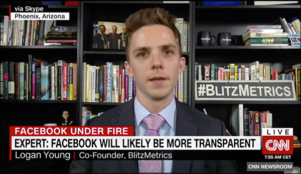 Logan Young live on CNN to discuss Cambridge Analytica and Zuckerberg's Congressional hearing  14 Digital Marketing Experts Share Their Marketing Home Run of 2018 digital marketing home run img16