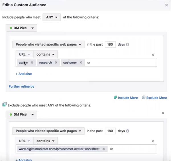 creating custom audiences based on what they look at