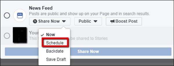 How to schedule social posts in Facebook