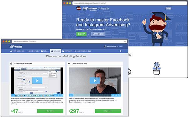 AdEspresso Social Media Marketing tool