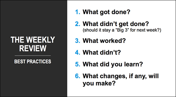 Review your week