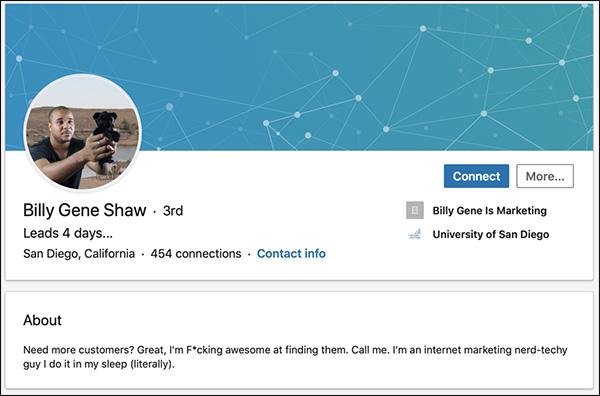 Billy Gene Shaw's LinkedIn Summary