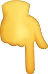 point down emoji
