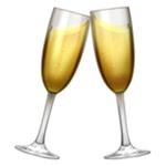 champagne glass clink emoji