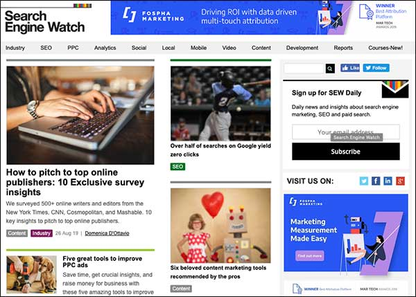 Search Engine Watch Marketing Blog