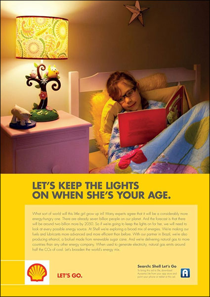 Recent Shell ad that embodies the marketing evolution of selling the why.
