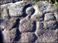 Image of Cocidius figure on Hadrian's Wall near Chesters Fort
