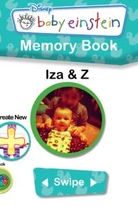 My Baby Einstein iPhone App - Memory Book Feature