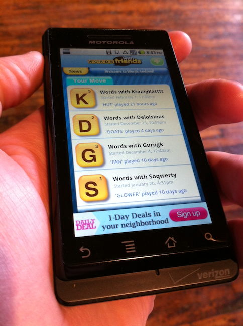 It's HERE! Words With Friends for Android!