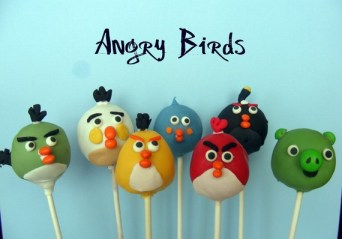 angry bird cake pops