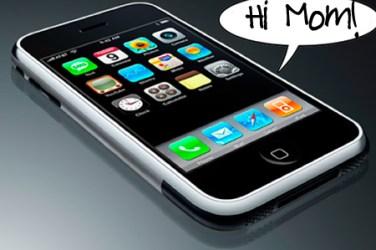 my mom got an iphone