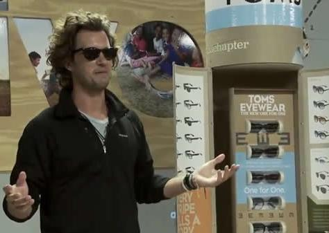 Toms shoes is now a one for one. Today Toms Eyewear was introduced, the second one for one product.