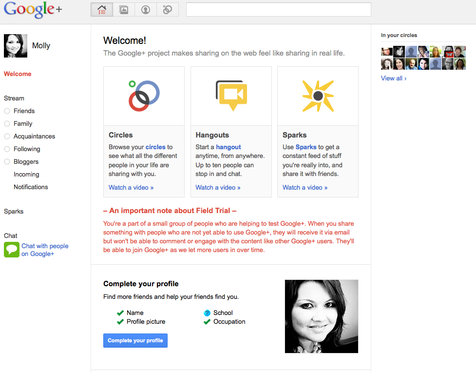 Google+ – First Impressions and Info for + Newbies