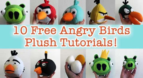 10 Plush Angry Birds Tutorials