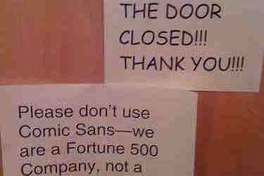 comic sans and fortune 500 company