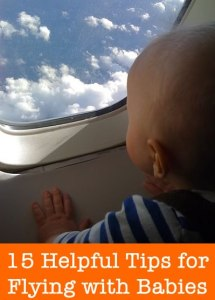 helpful tips for flying with babies