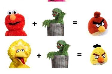 angry birds meets sesame street