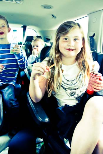 car craziness with kids on a road trip