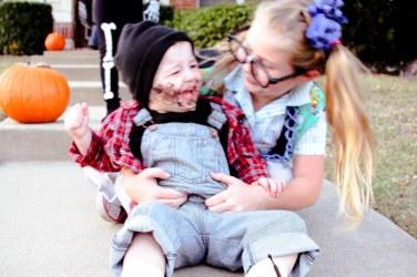4 Kids in Halloween Costumes is WORK!
