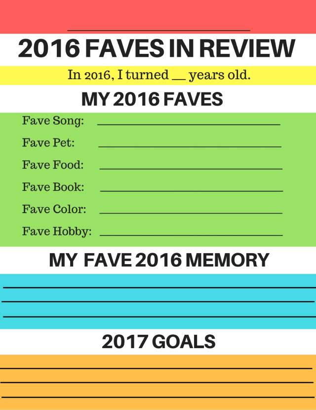 2016 printable year in review