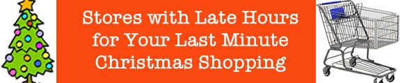 christmas shopping late hours