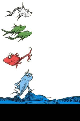 Dr Seuss iPhone Wallpaper 1 fish 2 fish